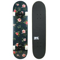 """Pro Skateboard Complete Pre-Built Floral Flowers 7.75"""" Ready to Ride"""