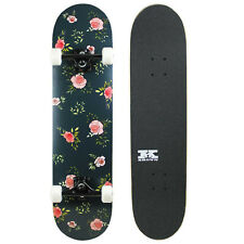 "Pro Skateboard Complete Pre-Built Floral Flowers 7.75"" Ready to Ride"