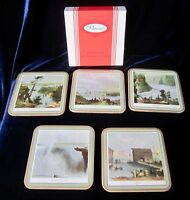Pimpernel Cork Backed Coasters - Ontario Scene - Boxed Set of 5 - Incomplete