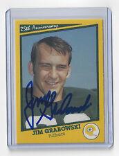 PACKERS Jim Grabowski signed SB I card AUTOGRAPHED AUTO Super Bowl I Anniv