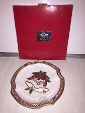 Fitz & Floyd Holiday Bells Canape Plate Mib