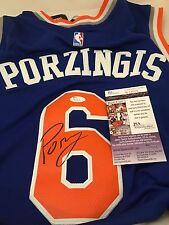 KRISTAPS PORZINIGS New York Knicks Signed Custom Swingman Jersey JSA COA