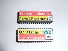 2 x Alesis Quadraverb 2 Presets Eproms VSE & MANTIS + VSE 100 Ombres Copyright.