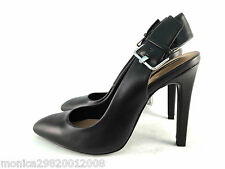 Zara Black High Heel Slingback Shoes Size Uk5/eur38/us7.5