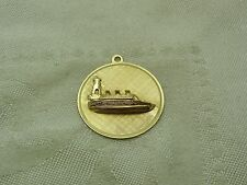 Cruise Ship Boat w/ Lighthouse oceanliner Pendant or Charm 14K Solid Gold N6-C