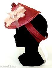 CHAPEAU tailles M / L cérémonie femme CELINE ROBERT Made in France rose pink hat