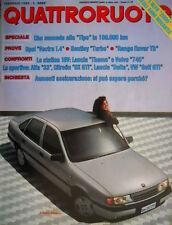 Quattroruote 400 1989 Alfa verso il 2000. Prove Bentley Turbo. Opel Vectra Q.42]