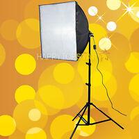 "60cm x 60 cm 24"" Soft box Flash E27 CFL Bulb Softbox + Light Stand Photo Studio"