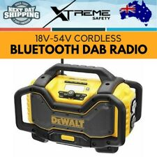 New DEWALT 18V-54V XR Li-Ion Cordless Jobsite Bluetooth Dab Radio - Skin Only