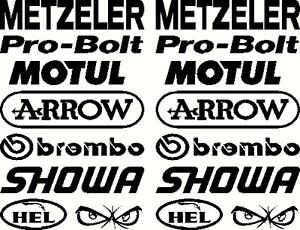 Belly Pan Motorbike Fairing Stickers  Set E  other sets available visit shop