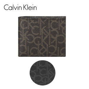 Calvin Klein Men's CK Signature Leather RFID Protection Billfold with Coin Case