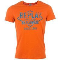 Replay Men's Beachwear Crew Neck T Shirt Orange