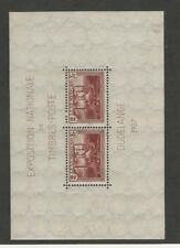 Luxembourg, Postage Stamp, #B85 Mint NH Sheet, 1937