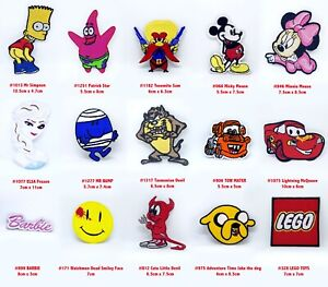 Cartoon characters badges Iron or Sew on Embroidered patches