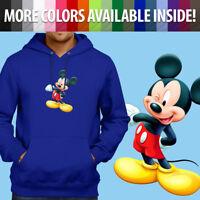Pullover Sweatshirt Hoodie Sweater Walt Disney Mascot Mickey Mouse Wink Cartoon