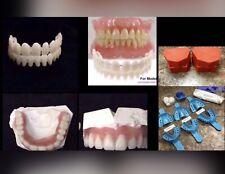 DIY Denture Kit Dental Impression Putty & Dental Base All You Need Kit A1 White