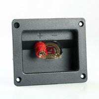 NEW Square Speaker Input Terminal Insert Cable Wire Audio bass Connector Plate