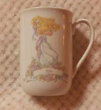 "The Enesco Precious Moments Collection Mug Cup Personalized ""Sue"" 1989 Euc 8 oz."