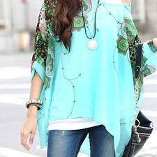 Women Casual Loose Kimono Tops UK 16 18 20 Waterfall Chiffon Tunic Kaftan Poncho