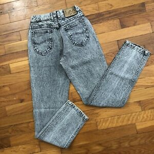 vtg 90s Lee Riders Grey Stonewashed High Waisted Slim Jeans girls 22x29 5e418p
