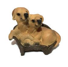 Cute Puppy Decorative Ornament Pet Dog Figurine Furry Friend Little Meadow Gift