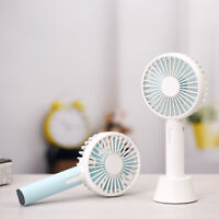 Portable USB Handheld Fan with Desktop Holding Dock Mobile 3 Speed Adjustable