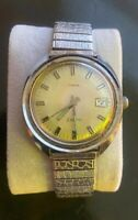 Vintage Men's Timex electric Great Britain Case wrist watch Works - New Battery