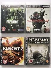 PS3 Game Bundle-Aliens Vs Predator+Crysis 3+Far Cry 2+Resistance Fall Of Man(984