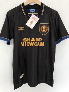 Manchester United 1992 93 94 Black Away Shirt Cantona Medium