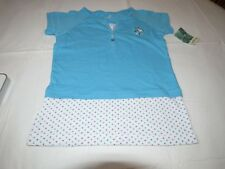 Healthtex girls 7 t shirt butterfly white turquoise blue TEE NEW youth polka dot