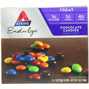 Atkins Diet Endulge Chocolate Candies Healthy Weight Loss Snack 5 x Bars