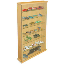 Collectors Wall Display Cabinet With 6 Glass Shelves - Beech 3319OC