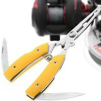 Hook Removers Stainless Steel Scissor Fishing Pliers Bait Line Cutter Tool Top