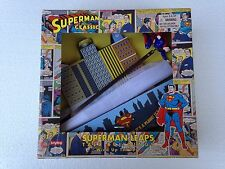 SCHYLLING SUPERMAN Leaps Tall Buildings Collectors Tin Toy Wind Up