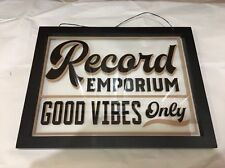 Record Emporium Good Vibes Mic Decor Vinyl Fender Guitar Pick Strat Amplifier