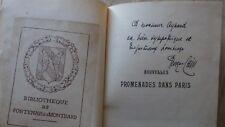Georges Cain NOUVELLES PROMENADES DANS PARIS Flammarion (1908) Signé par Auteur