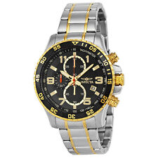 Invicta Specialty Chronograph Black Dial Stainless Steel Mens Watch 14876