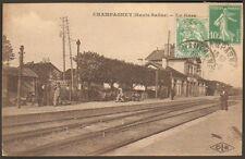 70 CHAMPAGNEY CARTE POSTALE LA GARE 1926 ?