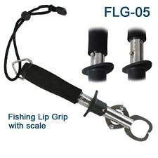 FISHING LIP GRIPS - FISH GRIPS STAINLESS STEEL WITH 15KG WEIGHING SCALE!