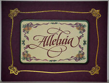 "Set of 12 MAGNETIC CARDS Christmas/Holiday Greetings ""ALLELUIA"", !FREE SHIPPING!"