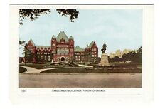 Parliament Buildings TORONTO Ontario Canada 1930-50s Folkard Fold-Out Postcard