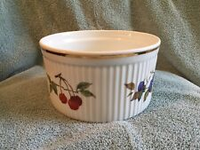 """Royal Worcester EVESHAM GOLD Souffle Dish 7"""" diameter EXCELLENT CONDITION"""