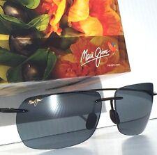 NEW* Maui Jim MJ Sport Banzai Black frame w Grey POLARIZED Lens Sunglass 425-02