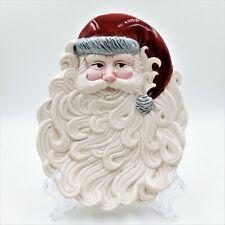 Omnibus Santa Face 3D Decorative Plate Christmas Wall Decor Vintage 1990
