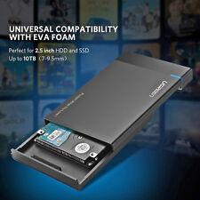 "3.0 USB External Backup Hard Drive Case 2TB Enclosure 2.5"" Portable HDD Sat"