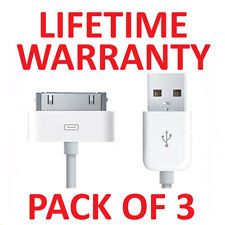 3x USB Charging Cable & Sync Charger Lead for Apple iPhone 4,4S,3GS,iPod,iPad2&1
