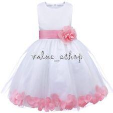 Petals Baby Princess Bridesmaid Communion Flower Girl Dress Wedding Formal Party