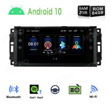 "7"" Android 10 Car No-DVD Stereo 2GB+64GB Radio GPS PIP for Jeep Chrysler Dodge"