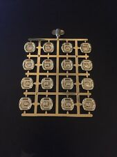 Authentic LEGO Prototype Sprue of Chrome Gold Sun Disks (HTF / RARE) (16 Disks)
