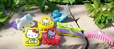 Vintage Hello Kitty Hair Clips Toys 2005 (8 Items)